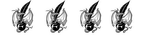 4 inkpots
